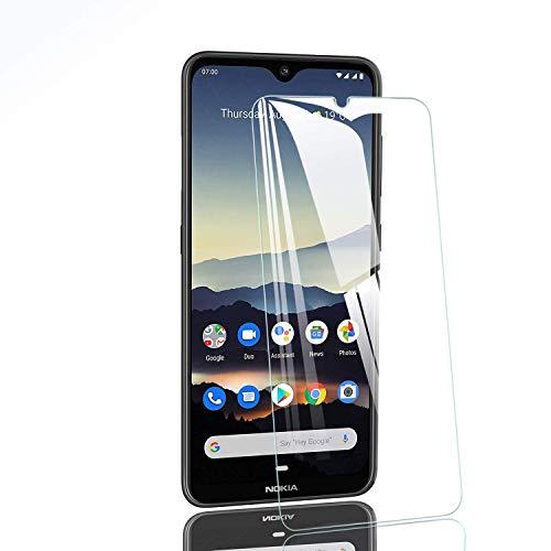 Hotbon Panzerglas Schutzfolie kompatibel mit Nokia 7.2/Nokia 6.2,9H Festigkeit Schutzfolie HD Panzerglasfolie 2.5D Bildschirmschutzfolie Anti-Kratzen Anti-Öl Anti-Bläschen [2 Stück]
