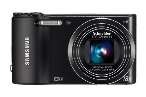Samsung WB150F Smart-Digitalkamera (14 Megapixel, 18-fach opt. Zoom, 7,6 cm (3 Zoll) Display, bildstabilisiert, Wifi) schwarz