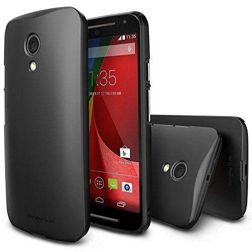 Ringke Slim Compatible with Moto G 2014 Case Moto G 2nd Gen HD Film, Better GripBlack Premium Dual Coated Hard Case for Motorola Moto G 2014