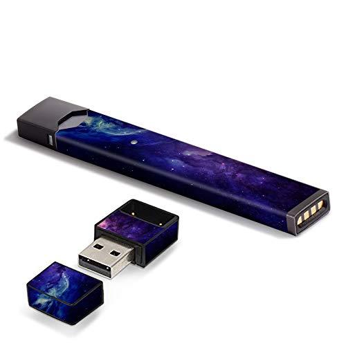 IT\'S A SKIN Aufkleber aus Vinyl für Pax Juul Pod System Aufkleber Sleeve Dark Solar Burst Galaxy Nebel