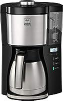melitta look v - macchina da caffè con filtro e timer con caraffa termica nero