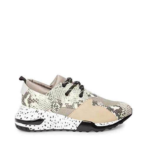 Price comparison product image Steve Madden Men's Ridge Sneaker,  Natural Snake,  12 M US
