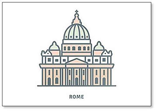 Kühlschrankmagnet, Motiv: St. Peters Basilika, Vatikanstadt