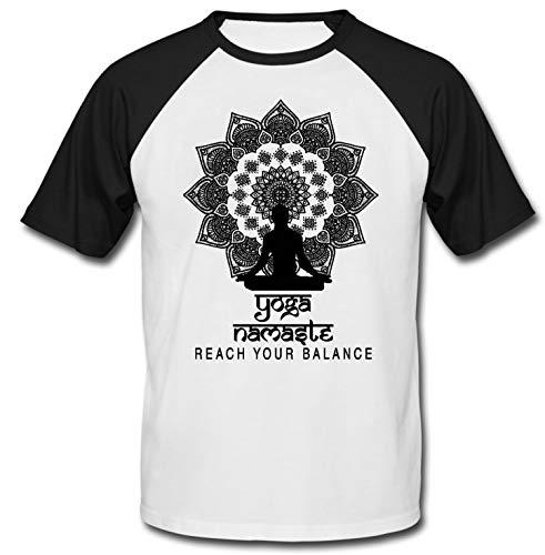 teesquare1st Men's Yoga Namaste 5 Black Short Sleeved T-Shirt Size Medium