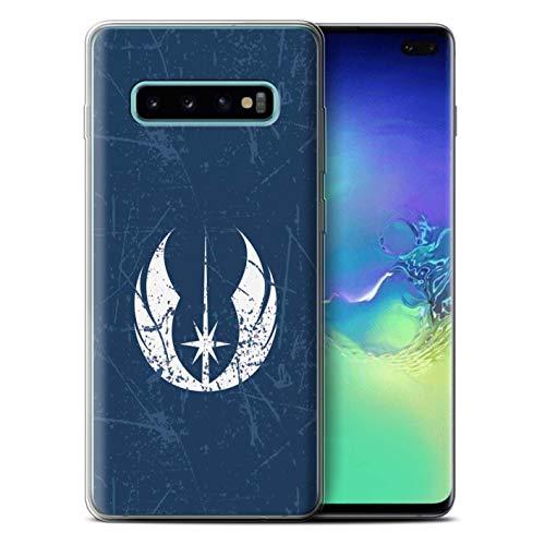 eSwish Carcasa/Funda TPU/Gel para el Samsung Galaxy S10 Plus/Serie: Arte Símbolo Galáctico - Orden Jedi Inspirado