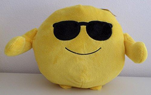 Smiley - Plüsch Smiley - mit Sonnenbrille - Kugelplüsch - 20 x 20 cm - K 4