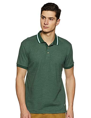 United Colors of Benetton Men's Plain Regular fit Polo (19P33D5J1909I_P20_Green S)