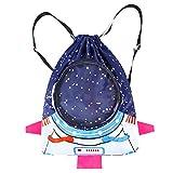 MIFASA Kinder wasserdichter Rucksack, Jungen Mädchen zum Schwimmen Rucksack Astronaut Badetaschen...