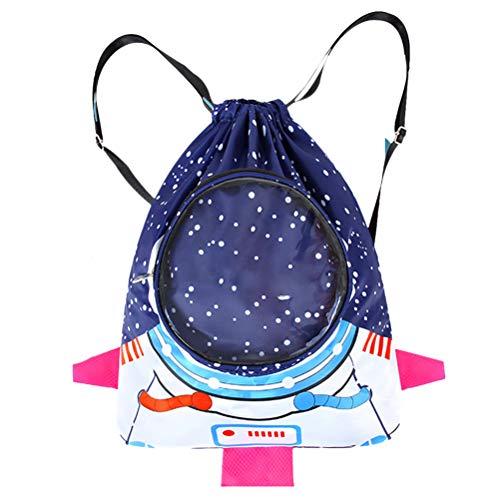 NEWMAN771Her Kinder wasserdichter Rucksack Kinder Cartoon Sport Strandtasche Jungen Mädchen Schwimmrucksack Astronaut Badetaschen