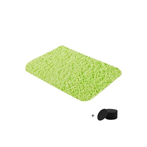 Big Incisors Runder Teppich Pad |Plüsch weicher Teppich Kunstpelz Teppich rutschfeste Fußmatten für Wohnzimmer Schlafzimmer Wohnzimmer Bereich Flauschige Decke -K-
