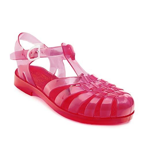 Sandalias de Goma Unisex para Mujeres, Hombres y niños - Sandalias de plástico para Piscina y Playa - AM188 - Fresa - EU 38