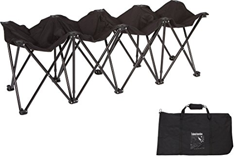 Trademark Innovations Portable Folding Sports Seater Bench - Sideline Collapsible Bench - 4 or 6 Seats