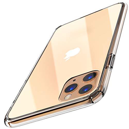 TOZO Cover per iPhone 11 PRO Max 6.5 Pollici (2019) Hybrid Soft Grip Finitura Opaca Pannello Posteriore Trasparente Custodia Ultrasottile [Slim Fit] per iPhone 11 PRO Max [Trasparente]
