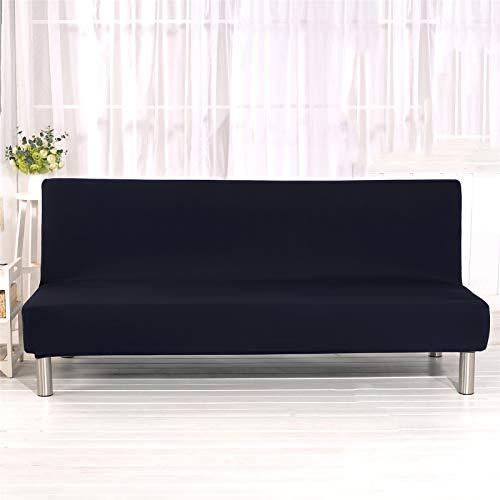 YXLJC Funda Sofa Cama, Universales Plegable Funda De Sofá Futón Couch Clic Clac Cubre Sofá Sin Brazos (Negro,Small)
