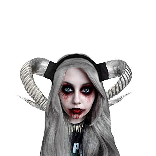 Shinehua Halloween haarband hoofdtooi hoorns hoofdtooi duivelhoofd hoofdband hoorns haaraccessoires donkere heksen Pan Gott Cosplay Gotisch themafeest kledingaccessoires kostuum accessoires 2 hoorns