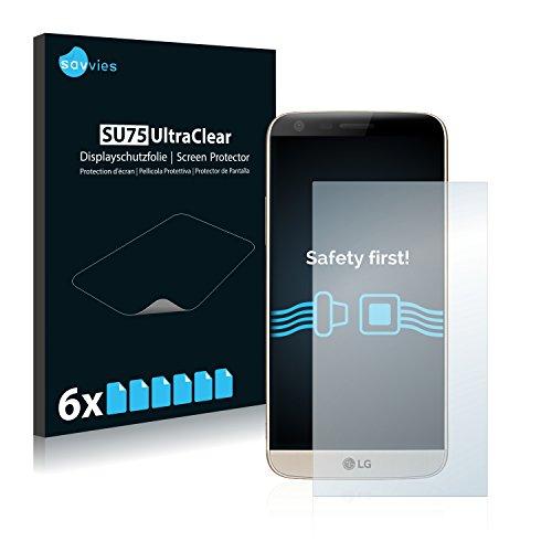 savvies 6-Pezzi Pellicola Protettiva Compatibile con LG G5 SE Protezione Schermo Trasparente