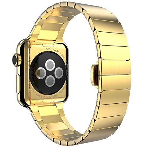 Correa de pulsera de eslabones de acero inoxidable azul Bgfh para Apple Watch Series 6 SE 5 4 3 40 mm 44 mm para Iwatch 6 5 Reemplazo de correa de correa de reloj