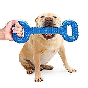 Feeko Dog Toys for Aggressive Chewers Large Breed 15 Inch Interactive Dog Toy Large Indestructible Dog Toys with Convex Design Natural Rubber Tug-of-war Toy for Medium and Large Dogs Tooth Cleaning