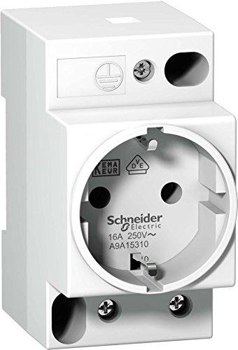 Schneider A9A15310 Steckdose Ipc, 2P+E, 16A, 250VAC, Kema/VDE 0620, deutsche Ausführung