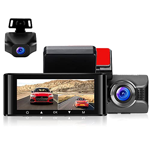 WonVon 4K Dash Cam for Cars Front Dashboard Camera and 1080P Rear Dashcam, W4K WiFi Driving Recorder with 3.16'' IPS Screen Night Vision GPS Parking Mode G-Sensor WDR Loop Recording Super Capacitor