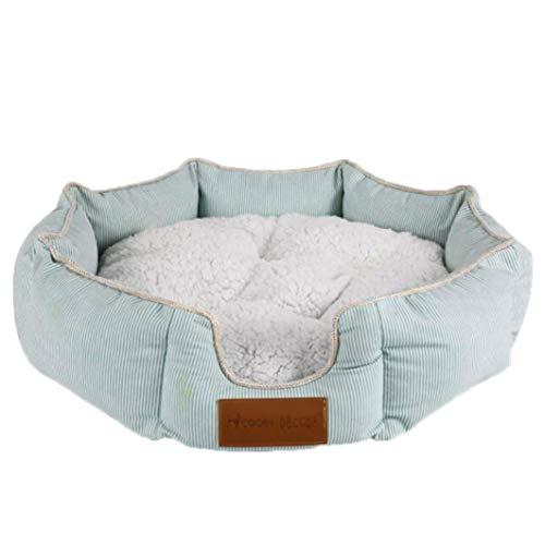 KongEU Hundekissen, Haustierbett,rund Hundematte, abnehmbar Innenkissen, Bio-Baumwolle, selbstwärmende Betten Hundesofa Hundekorb Katzenbett,erhöhter Rand-M