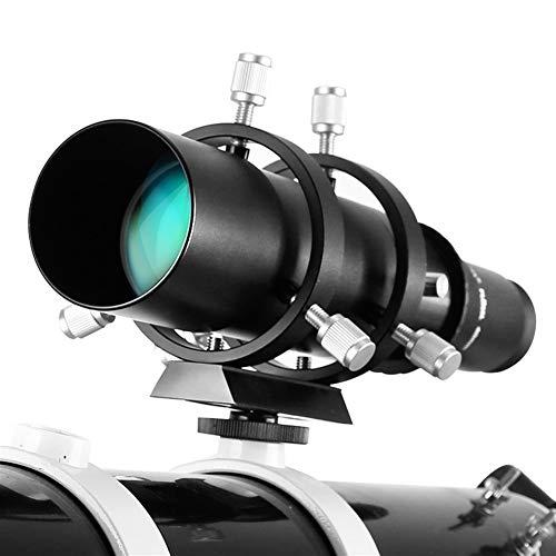 ZRDY Guía De Alcance De 50 Mm Ocular Totalmente Recubierto con Soporte Telescopio Accesorios Sightseeing (Color : Black)