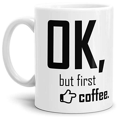 Tasse mit Spruch Coffee - Kaffeetasse/Mug/Cup - Qualität Made in Germany