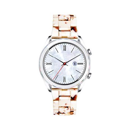 BINLUN Correas de Reloj de Resina Pulseras de Repuesto para Smartwatches para Mujer Hombre Correas de Reloj de Liberación Rápida de 14 Colores Correas de Reloj Ligeras Ajustables de 18mm 20mm 22mm