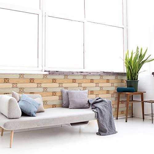 Veta de madera larga,5 hojas,60*60CM,Adhesivos de pared,3D,Autoadhesivo,Espuma gruesa,Impermeable,Pared de sala de estar y Dormitorio y fondo,Decoración,Decoración,Arte,Bricolaje,Decoración del hogar
