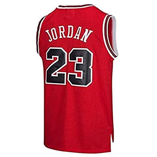SHUWNSJ Ropa De Baloncesto Camiseta Retro para Hombre Michael Jordan # 23 Deportes De Baloncesto Camiseta De Chicago Camiseta Deportiva Sin Mangas (B,Large)