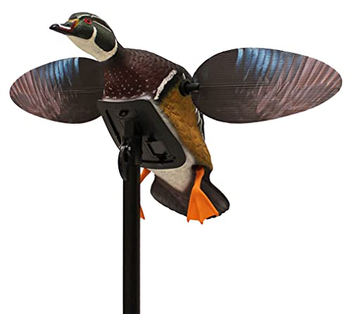 MOJO Elite Series Spinning Wing Duck Decoy for Duck Hunting, Woody Wood Duck