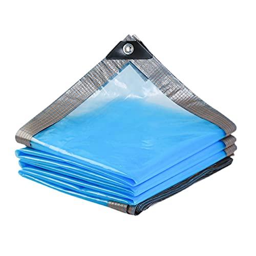 KUAIE Modelli Sottili Antipioggia Telone PE Telone Impermeabile da Giardino Telone Plastica per Isolamento Copertura Vegetale con Occhielli (Color : Blue, Size : 4x7m)