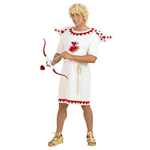 NET TOYS Originelles Amor-Kostüm für Herren | Weiß-Rot in Größe XL (54) | Zauberhafte Männer-Verkleidung Liebesgott | Ideal für Junggesellenabschied & Weihnachtsfeier