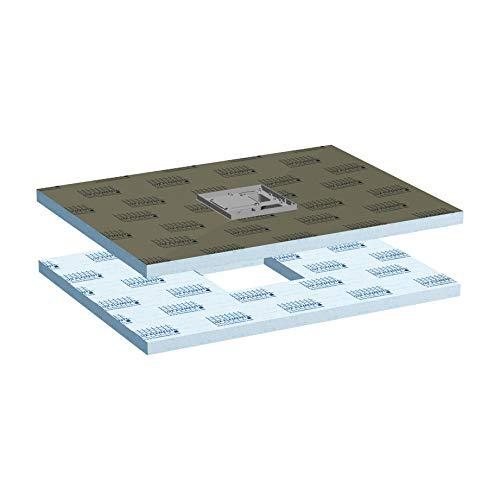 LUX ELEMENTS abgedichteter Duschboden mit eingebauter Bodenablaufpumpe, TUB-PUMP-S MR 1200/900 LTUBE19207, Grau, 120 x 90 cm