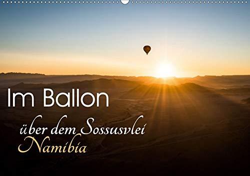 Im Ballon über dem Sossusvlei, Namibia (Wandkalender 2020 DIN A2 quer): Sonnenaufgang über der Wüste im Namib-Naukluft Nationalpark. (Monatskalender, 14 Seiten )