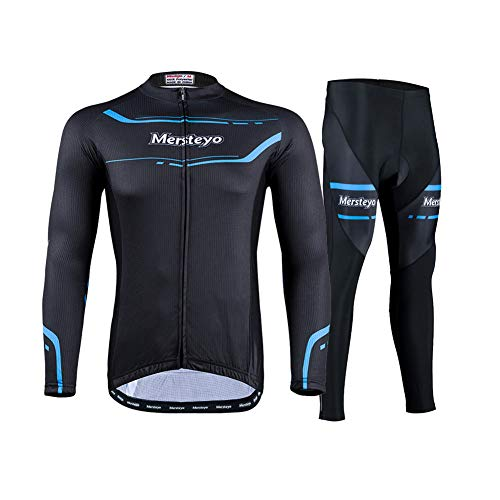 FZYQY Ropa de Bicicleta Hombre MTB Traje de Ciclismo Mangas Largas +Pantalones Equipación de Ciclista para Mountain Bike MTB/A/S