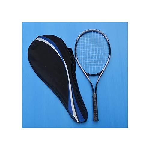HLONGG Raqueta De Tenis Profesional, Práctica para Principiantes, Unisex, Estudiante, Raqueta De Tenis para Adultos (Sola),Negro