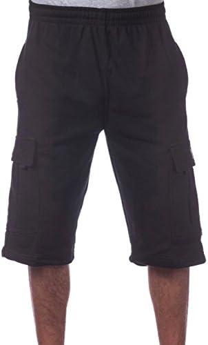 Pro Club Mens Fleece Cargo Shorts Black