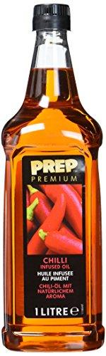 PREP PREMIUM Chiliöl 1 x 1000 ml PET - Infused Oil verleiht Grillfleisch, BBQ-Gerichten, Fisch und Gemüse einen pikanten Hauch von Schärfe Öl mit Chili