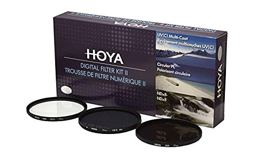 Hoya Digital Filter Kit (77mm) inkl Cirkular Polfilter/ND-Filter (NDx8)/HMC-C, UV-Filter