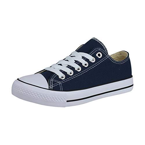 Elara Unisex Sneaker Low top Turnschuh Textil Chunkyrayan 36-46 A-YD3230-Blau-39
