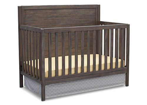 Delta Children Cambridge 4-in-1 Convertible Crib, Rustic Grey
