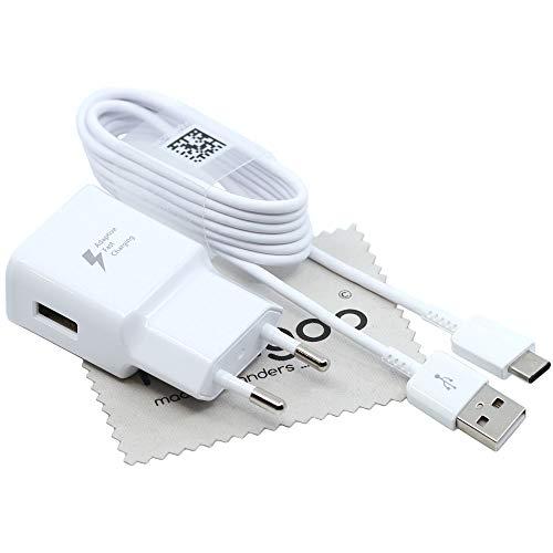 Schnell Ladegerät für Original Samsung Galaxy A3 2017 (A320F) 2A USB Typ-C Daten Ladekabel Blitz mit mungoo Displayputztuch