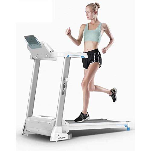 XJYA Klapplaufband,Bluetooth Elektrisches Laufband Dämpfung Falten Super stumm Laufen Laufen Joggen Laufende Maschine mit Blauer Hintergrundbeleuchtung LCD Bildschirm für Zuhause &Gym Cardio Fitness