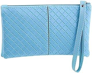 yeesport Zip Wristlet Wallet Faux Leather Clutch Wallet Women Wristlet Purse Simple Cash Wallet