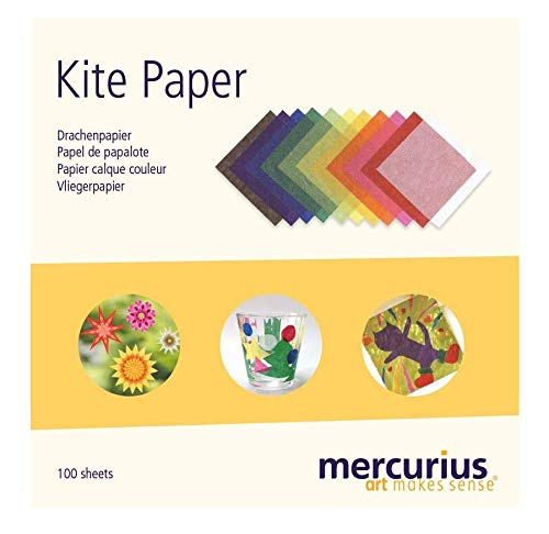 """Mercurius AMS Kite Paper 100 Sheets 11 Colors 6.25"""" Squares"""