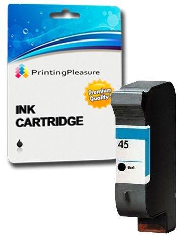 Printing Pleasure SCHWARZ Druckerpatrone für HP Color Copier 180 280 Deskjet 1180c 1220c 1280 6120 9300 930c 959c 970cxi Fax 1220 Photosmart 1000 1100 1115 1215 | kompatibel zu HP 45 (C51645AE)