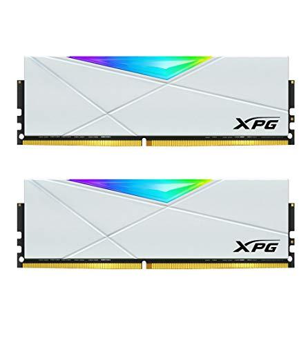 XPG DDR4 D50 RGB 32GB (2x16GB) 3200MHz PC4-25600 U-DIMM 288-Pins Desktop Memory CL16-20-20 Kit White