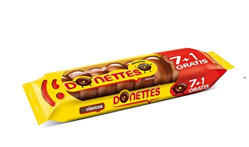 Donettes Clásicos Sabor Chocolate pack 7+1 unidades gratis. 152 g (19gr por mini rosquilla)