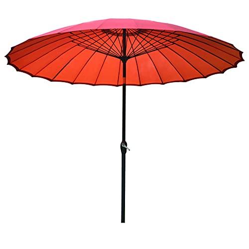 WGFGXQ Sombrilla con Mecanismo de inclinación de manivela, sombrilla de Mesa de jardín al Aire Libre, sombrilla de terraza, sombrilla de Mercado, 2,7 m